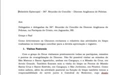 Relatório Episcopal 36a Reunião Concílio
