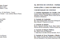 Nomeações da 36a  Reunião do Concílio