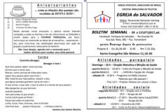 Boletim Paróquia do Salvador – RG
