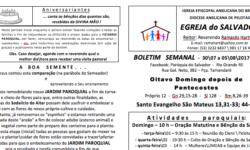 Boletim Egreja de 30 a 05/08/2017 – Paróquia do Salvador – RG