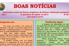 Informativo Boas Notícias – 2a quinzena de Agosto/2017