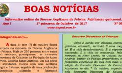 Informativo Boas Notícias – 1a quinzena de Outubro/2017