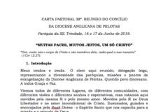 Carta Pastoral 38ª. Reunião do Concílio da Diocese Anglicana de Pelotas