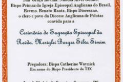 Cerimônia de Sagração Episcopal da Revda Meriglei Borges Silva Simim